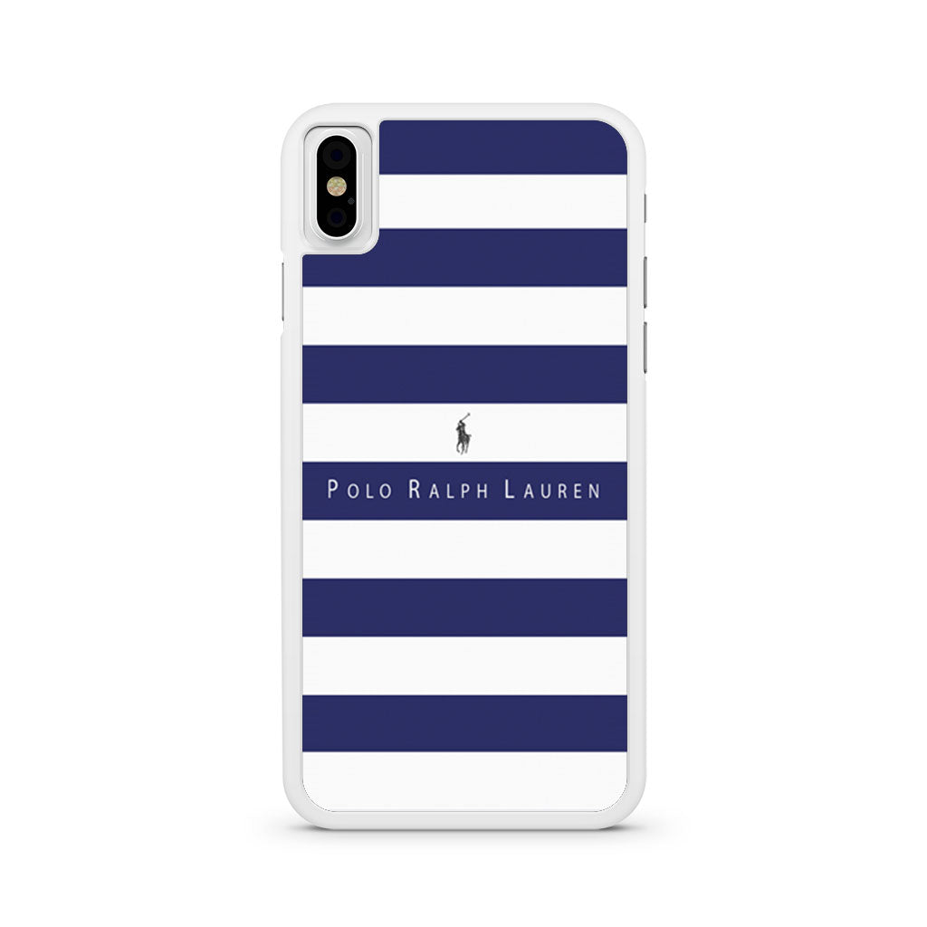 competitive price a6580 9df21 Polo Ralph Lauren Blue White Stripes iPhone X case