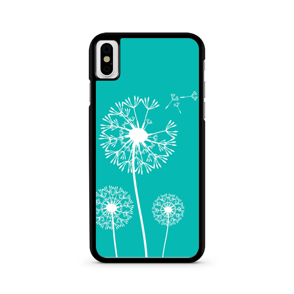 save off 9785c d1b1a Dandelion Flowers On Tiffany Blue iPhone X case