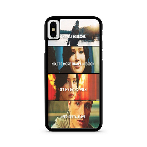 The Hunger Games Quotes Mockingjay iPhone X case