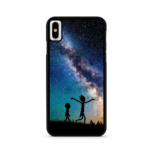 Rick and Morty Silhouette Nebula iPhone X case