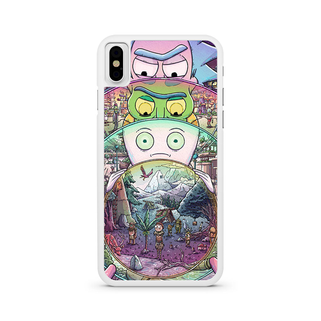 Rick and Morty Miniverse iPhone X case