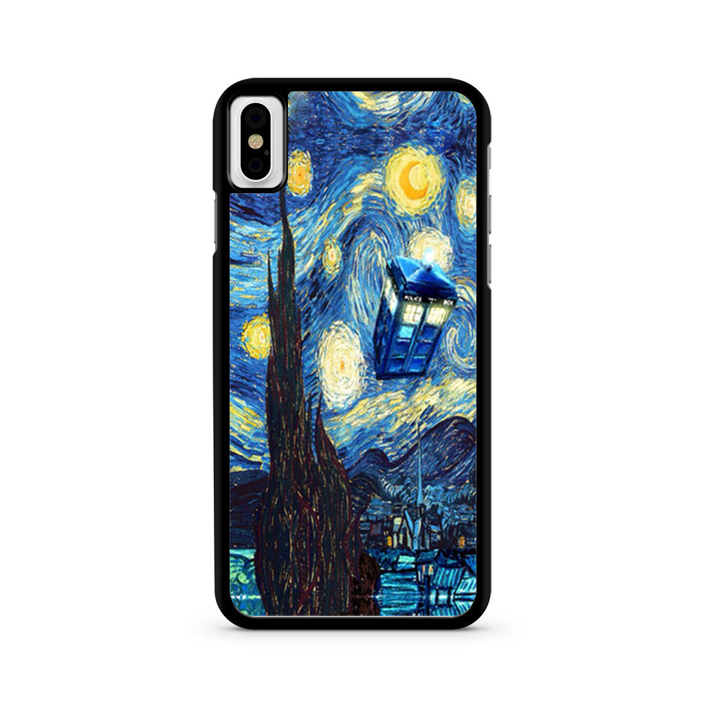 100% authentic 01e1b 6b2ff Dr Who Starry Night Tardis iPhone X case
