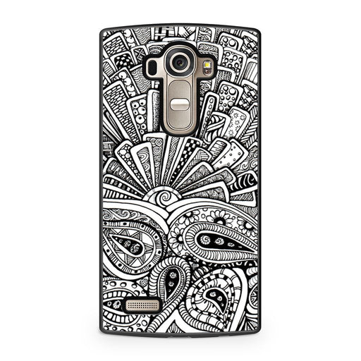 Zentangle Monogram LG G4 case