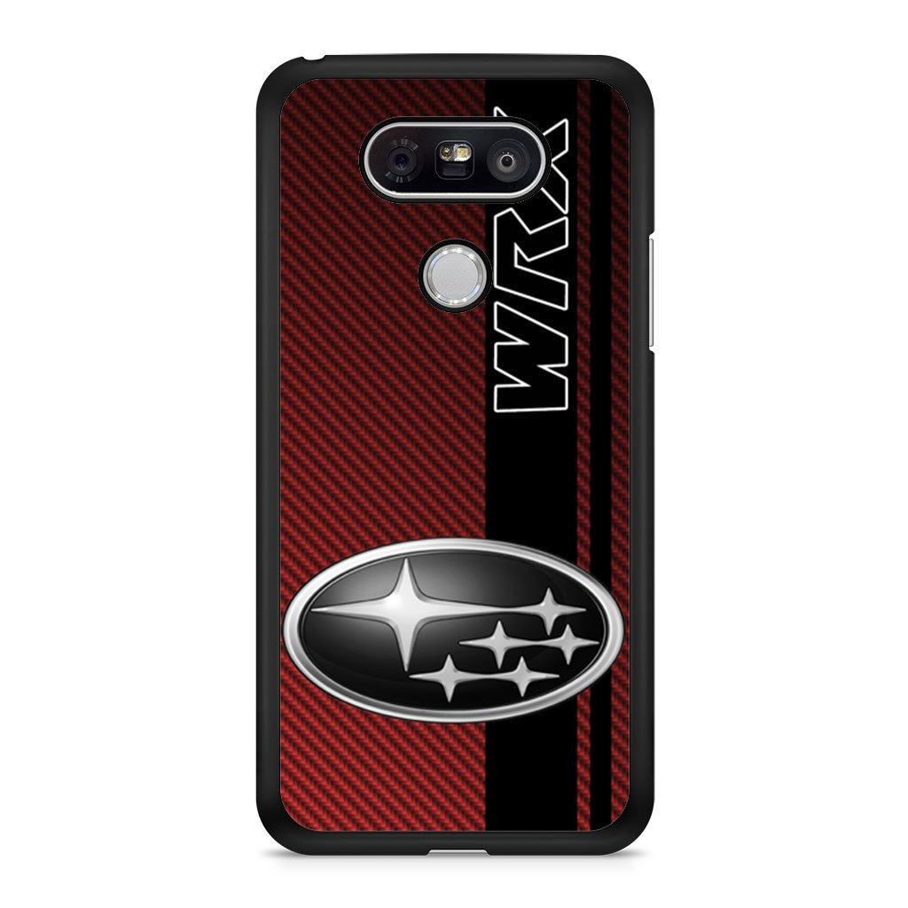 Subaru WRX Logo On A Field Of Simulated Red LG G5 case