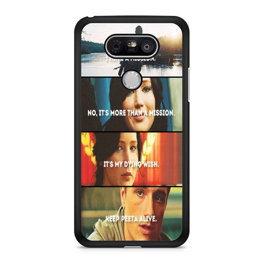 The Hunger Games Quotes Mockingjay LG G5 case