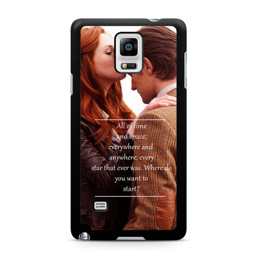 Eleventh Doctor Who Matt Smith Time And Space Quote Samsung Galaxy Note 4 case