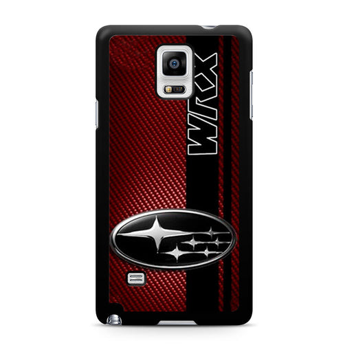 Subaru WRX Logo On A Field Of Simulated Red Samsung Galaxy Note 4 case