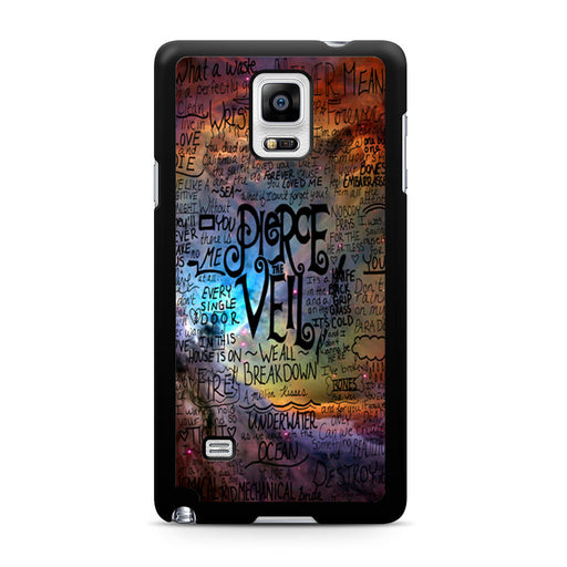 Pierce The Veil Lyric Logo Quote Galaxy Samsung Galaxy Note 4 case