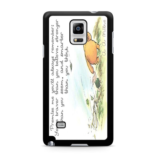 Winnie the Pooh Quote Samsung Galaxy Note 4 case