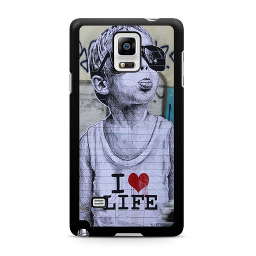Banksy I Love my life Samsung Galaxy Note 4 case