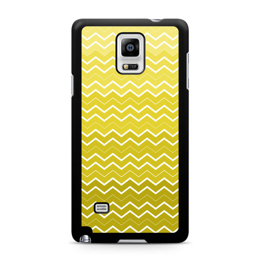 Yellow Chevron Pattern Samsung Galaxy Note 4 case