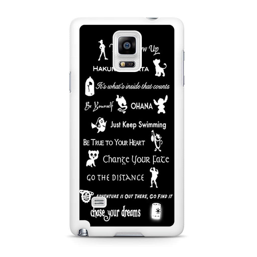 pretty nice b8967 21a9a Disney Lessons Learned Mash Up Samsung Galaxy Note 4 case