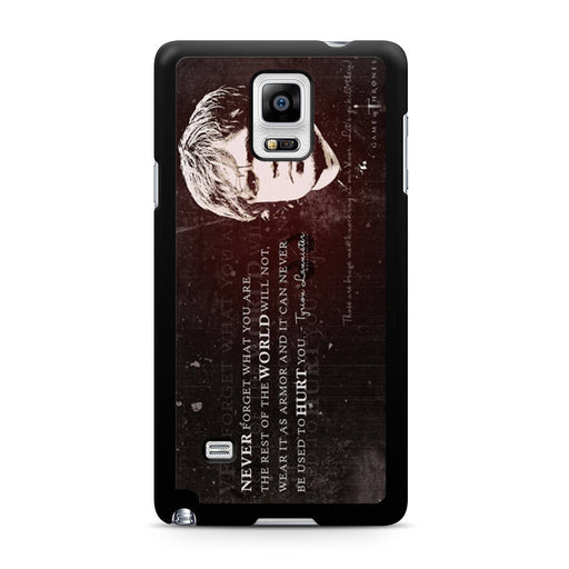 Tyrion Lannister Quote Samsung Galaxy Note 4 case