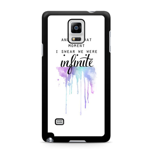 The Perks of Being a Wallflower Quote Samsung Galaxy Note 4 case