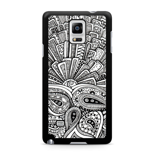 Zentangle Monogram Samsung Galaxy Note 4 case