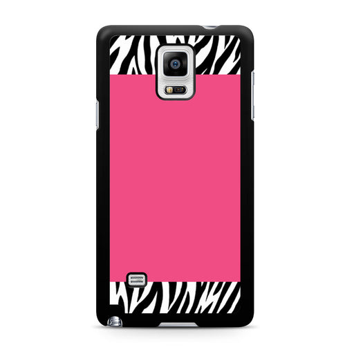 Zebra Pattern on Hot Pink Samsung Galaxy Note 4 case