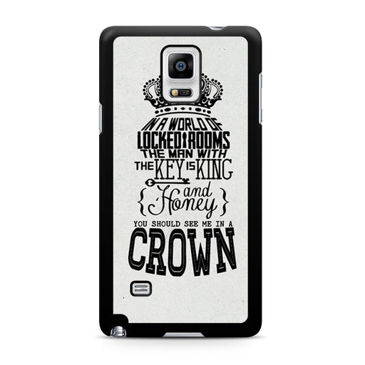 You Should See Me In A Crown Moriarty Quote Samsung Galaxy Note 4 case