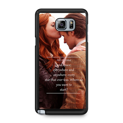 Eleventh Doctor Who Matt Smith Time And Space Quote Samsung Galaxy Note 5 case