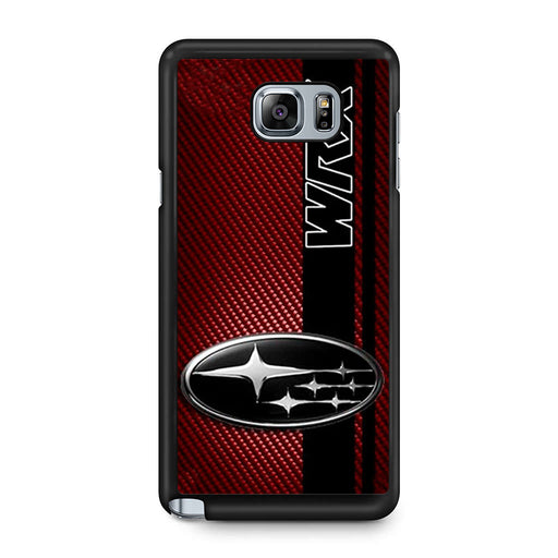 Subaru WRX Logo On A Field Of Simulated Red Samsung Galaxy Note 5 case