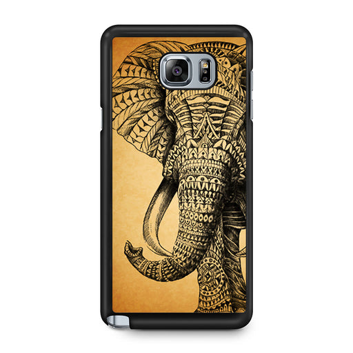Zentangle Elephant Samsung Galaxy Note 5 case