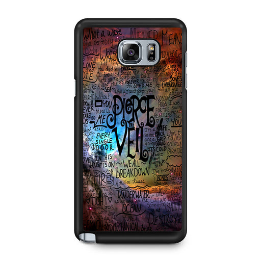 Pierce The Veil Lyric Logo Quote Galaxy Samsung Galaxy Note 5 case