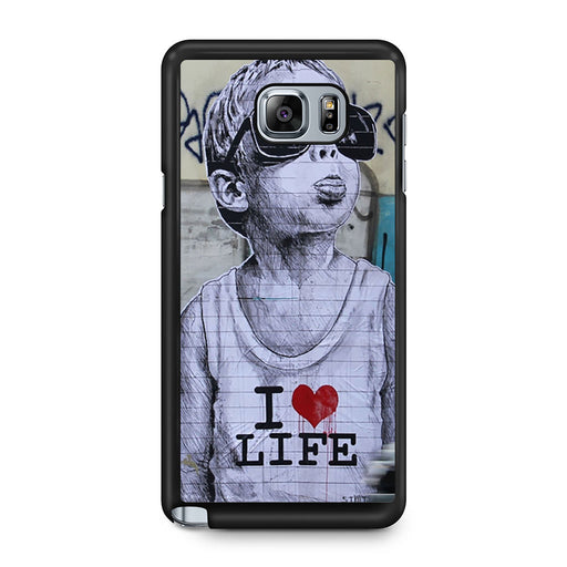 Banksy I Love my life Samsung Galaxy Note 5 case