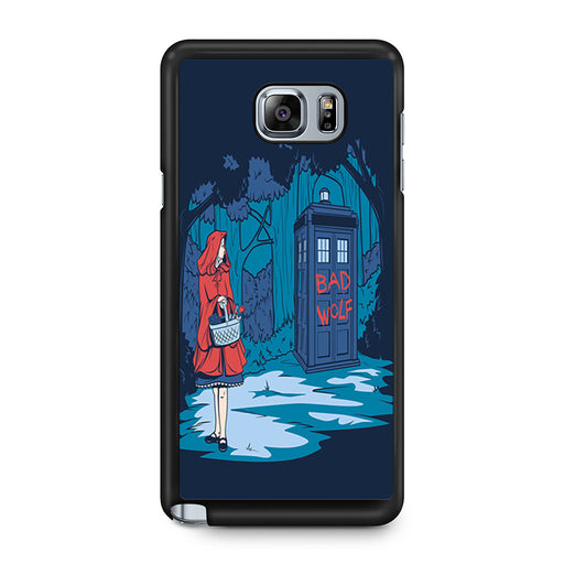 Tardis Dr Who Little Red Riding Hood Samsung Galaxy Note 5 case