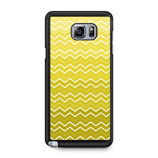 Yellow Chevron Pattern Samsung Galaxy Note 5 case