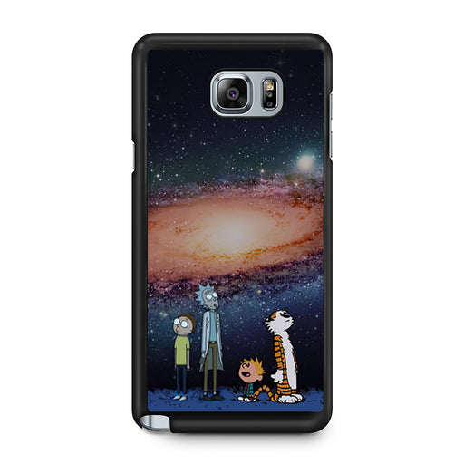 Rick Morty Calvin Hobbes Stargazing Samsung Galaxy Note 5 case