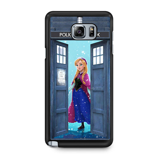 Tardis Disney Frozen Anna Samsung Galaxy Note 5 case