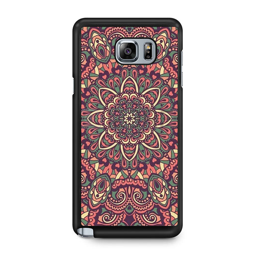 Seamless Mandala Flower Indian Bali Tribal Samsung Galaxy Note 5 case