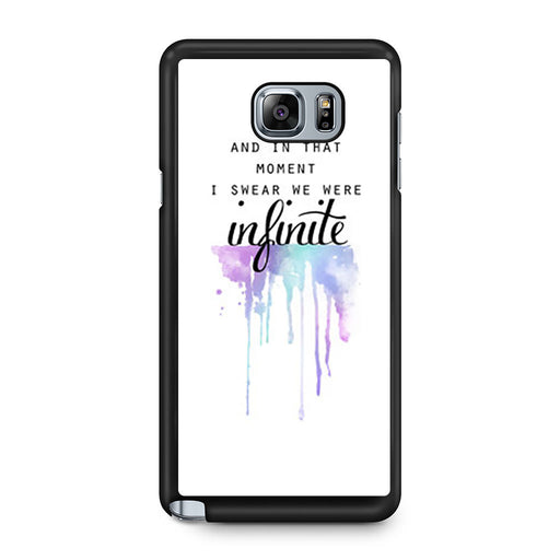 The Perks of Being a Wallflower Quote Samsung Galaxy Note 5 case
