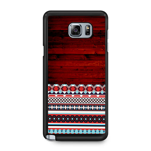 Wooden Aztec Pattern Samsung Galaxy Note 5 case