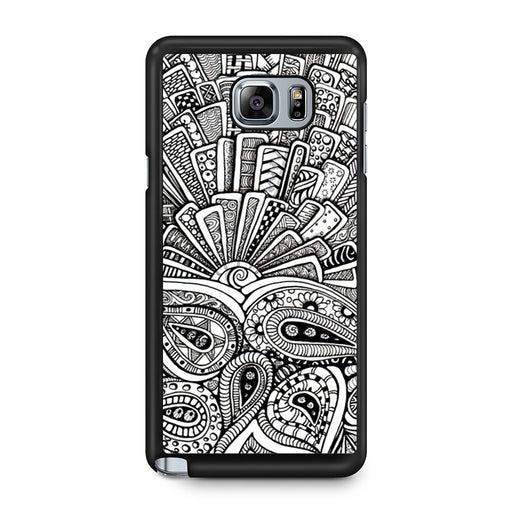 Zentangle Monogram Samsung Galaxy Note 5 case