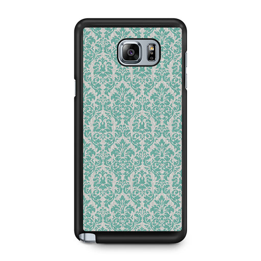 Teal Damask Samsung Galaxy Note 5 case