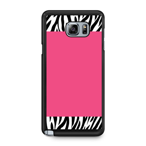 Zebra Pattern on Hot Pink Samsung Galaxy Note 5 case