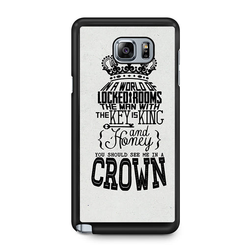 You Should See Me In A Crown Moriarty Quote Samsung Galaxy Note 5 case