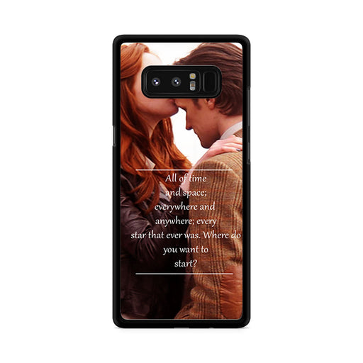 Eleventh Doctor Who Matt Smith Time And Space Quote Samsung Galaxy Note 8 case