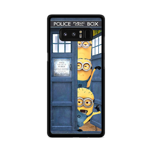 Three Despicable Me Minion In Dr Who Tardis Call Box Samsung Galaxy Note 8 case