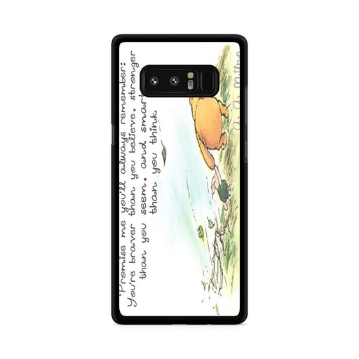 Winnie the Pooh Quote Samsung Galaxy Note 8 case