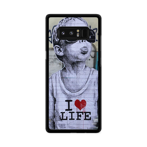 Banksy I Love my life Samsung Galaxy Note 8 case