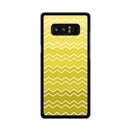 Yellow Chevron Pattern Samsung Galaxy Note 8 case