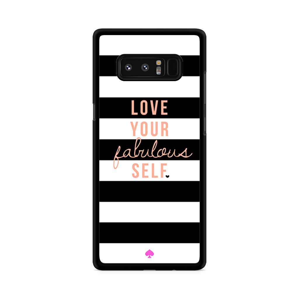 new styles dd584 5553c Kate Spade Love Your Fabulous Self Samsung Galaxy Note 8 case
