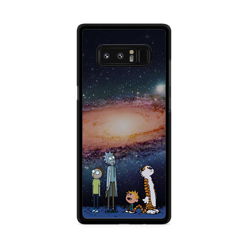 Rick Morty Calvin Hobbes Stargazing Samsung Galaxy Note 8 case