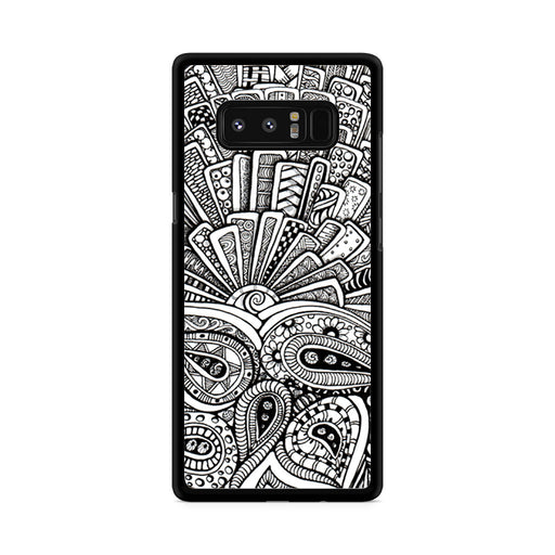 Zentangle Monogram Samsung Galaxy Note 8 case