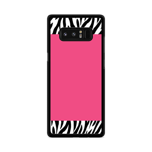 Zebra Pattern on Hot Pink Samsung Galaxy Note 8 case