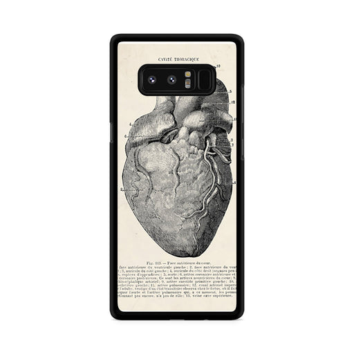 Vintage Medical Anatomical Heart Diagram Samsung Galaxy Note 8 case