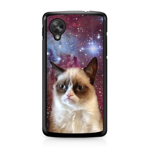 Galaxy Nebula Angry Grumpy Cat Google Nexus 5 case