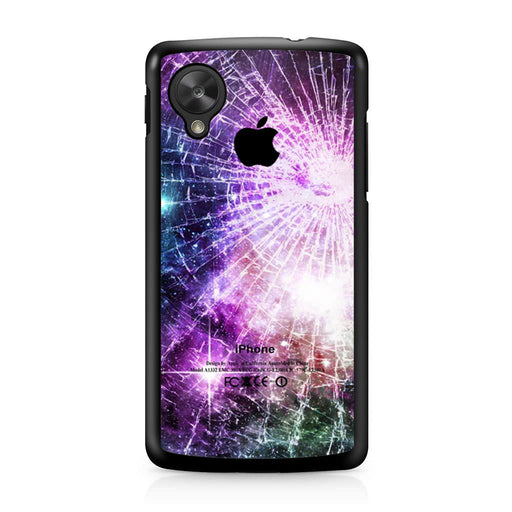 Galaxy Nebula Cracked Out Broken Glass Google Nexus 5 case