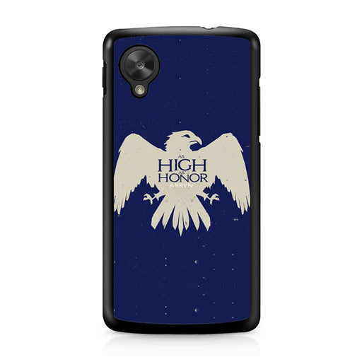 Game Of Thrones Arryn As High As Honor Google Nexus 5 case